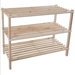 🎀Shoe Rack Natural Wood 🎀 NEW